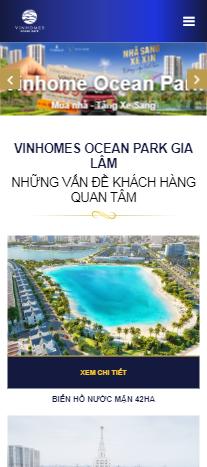 Mẫu website bất động sản Vinhome