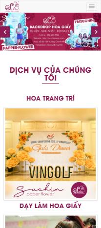 Mẫu website hoa giấy Suchin
