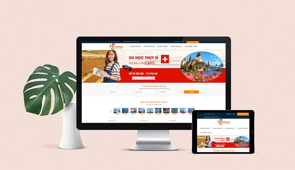 Thiết kế website du học đẹp chuẩn SEO