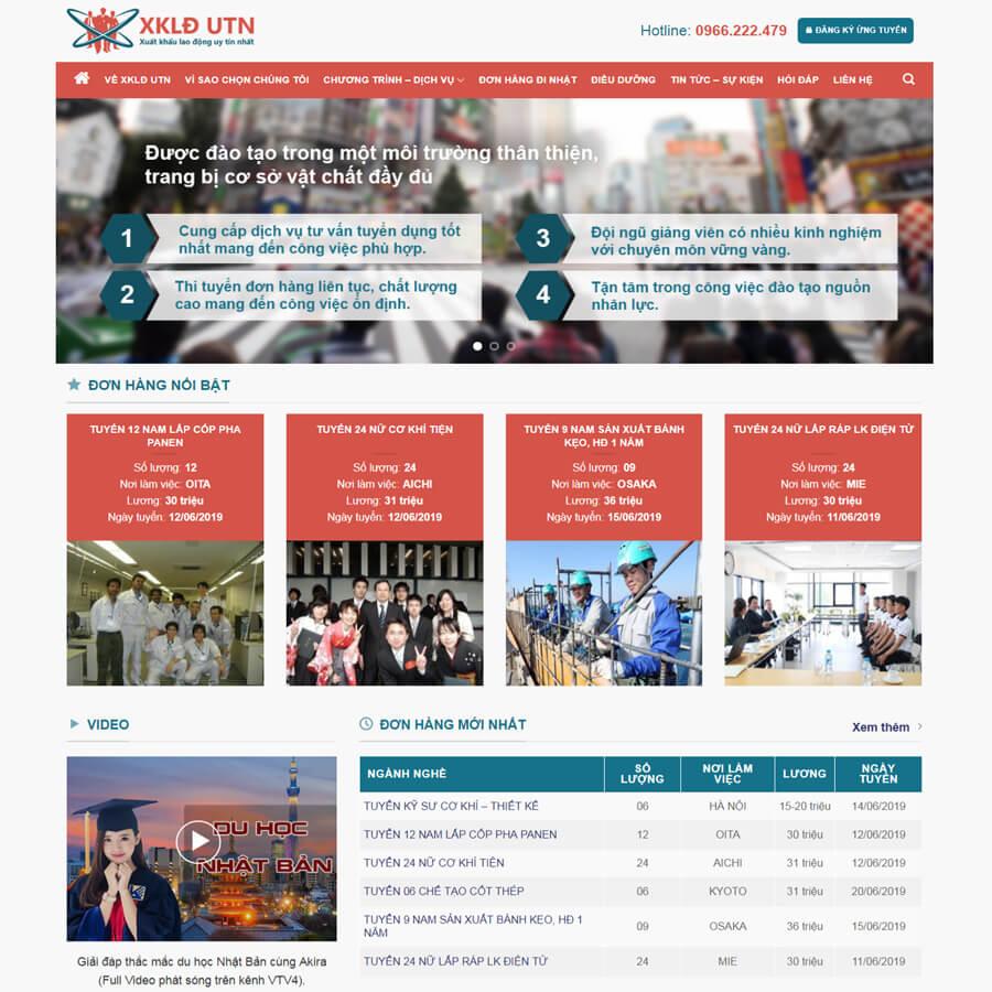 tính năng của website xuất khẩu lao động