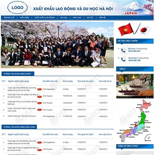 trang chủ website xuất khẩu lao động