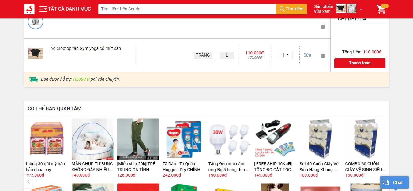 Upsell website bán hàng