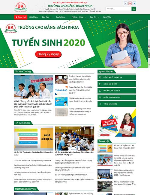 Thiết kế website Trường cao đẳng Bách Khoa